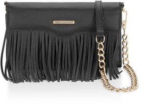 Rebecca Minkoff Fringe Leather Tech Crossbody Bag - ONE COLOR - STYLE