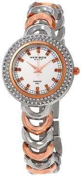 Akribos XXIV Silver Dial Two-tone Quartz Ladies Watch
