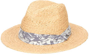 San Diego Hat Company Men's Straw Panama Fedora with Palm Leaf Band