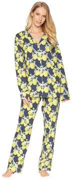 BedHead Lemon Long Sleeve Long Pajamas Women's Pajama Sets