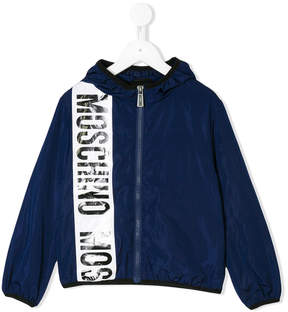 Moschino Kids logo stripe jacket