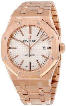 Audemars Piguet Royal Oak Automatic Silver Dial 18kt Rose Gold Men's Watch 15400OROO1220OR02