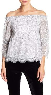 Cupcakes And Cashmere Nichols Lace Off-the-Shoulder Blouse