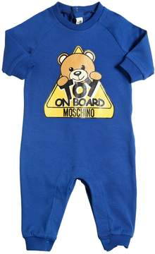 Moschino Bear Printed Cotton Interlock Romper