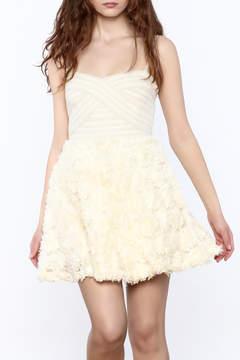 Ark & Co Beige Strapless Dress