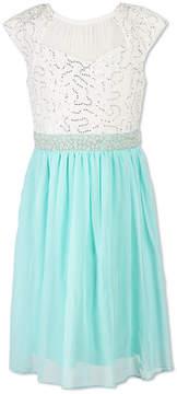 Speechless Sleeveless Lace Shoulder Sleeve Party Dress Girls