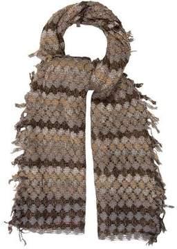 Missoni Metallic Patterned Knit Scarf