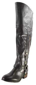 Report Signature Geena Round Toe Synthetic Over The Knee Boot.
