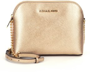 MICHAEL Michael Kors Cindy Metallic Dome Cross-Body Bag - PALE GOLD - STYLE
