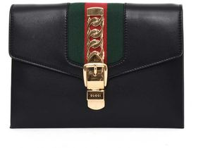 Gucci Leather 'sylvie' Clutch - NERO - STYLE
