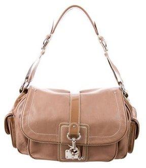 Marc Jacobs Leather Shoulder Bag - BROWN - STYLE
