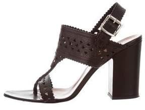 Sigerson Morrison Leather Laser Cut Sandals