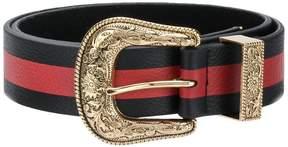 B-Low the Belt embossed buckle belt