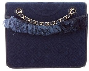 Tory Burch Quilted Denim Fleming Bag - BLUE - STYLE