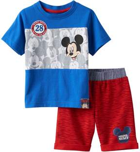 Disney Disney's Mickey Mouse Baby Boy Colorblock Tee & Space-Dye Shorts Set