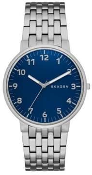 Skagen Ancher SKW6201 Silver/Blue Analog Quartz Men's Watch