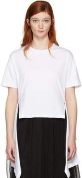 Cédric Charlier White Hanging Ruffle T-Shirt