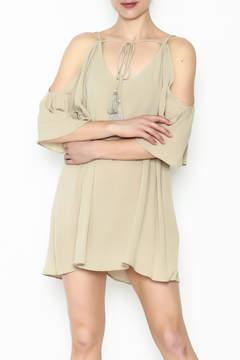 Cotton Candy Cold Shoulder Mini Dress