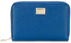 Dolce & Gabbana small zip-around wallet - BLUE - STYLE