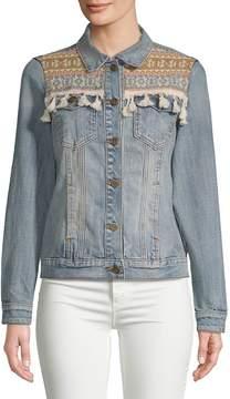 Driftwood Women's Embroidered Denim Jacket