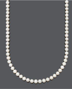 Belle de Mer Aa+ 22 Cultured Freshwater Pearl Strand Necklace (7-1/2-8-1/2mm) in 14k gold