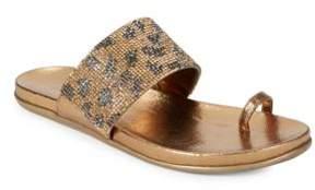 Kenneth Cole Reaction Slim Tricks2 Print Embellished Toe Ring Sandals