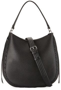 Rebecca Minkoff Convertible Pebbled Hobo Bag, Black - BLACK - STYLE