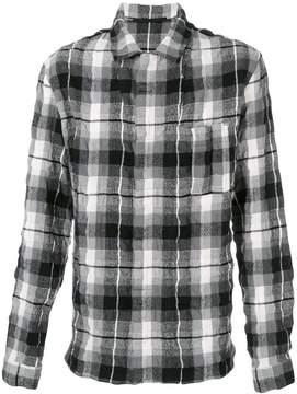 Haider Ackermann creased effect plaid shirt