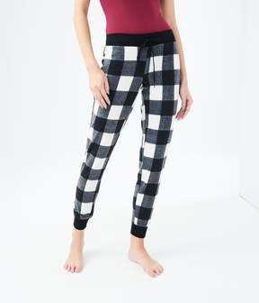 Aeropostale LLD Plaid Polyfleece Sleep Joggers