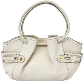 Cole Haan Ivory Leather Cinched Tote Bag