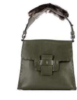 Henry Beguelin Women's Green Leather Shoulder Bag.