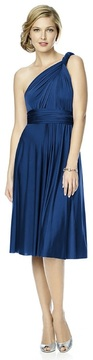 Dessy Collection - MJ-TWIST1 Dress in Estate Blue