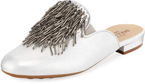 Sesto Meucci Kala Embellished Metallic Leather Mule