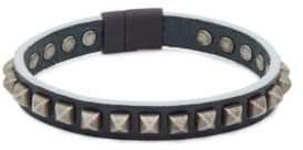 Tateossian Studded Leather Bracelet