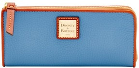 Dooney & Bourke Pebble Grain Zip Clutch Wallet - DUSTY BLUE - STYLE