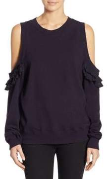Clu Cold-Shoulder Pleated Pullover
