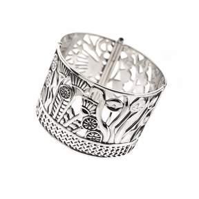 Azza Fahmy Sterling Silver Hand Pierced Bracelet Cuff
