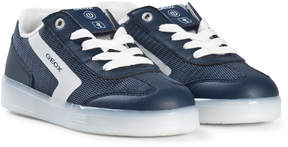 Geox Navy Kommodor Light Up Lace Trainers