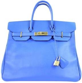 Hermes Leather satchel - BLUE - STYLE