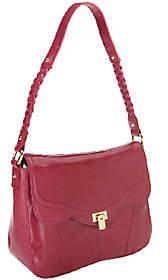 B. Makowsky Karlie Glazed Leather Shoulder Bag