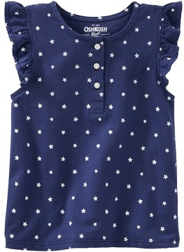 Osh Kosh Toddler Girl Flutter Sleeve Star Print Top