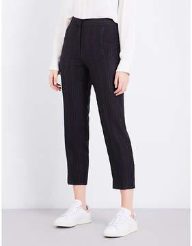 Claudie Pierlot Striped wide-leg woven-twill trousers