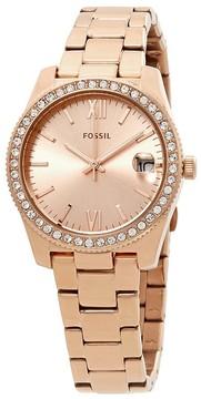 Fossil Scarlette Crystal Rose Dial Ladies Watch
