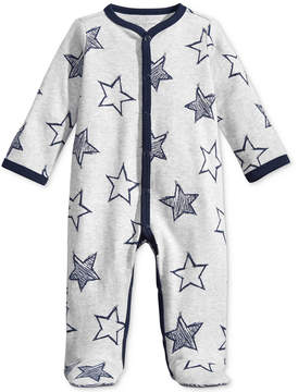 First Impressions 1-Pc. Star-Print Footed Coverall, Baby Boys (0-24 months), Created for Macy's