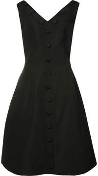 Christian Siriano button front pleated dress