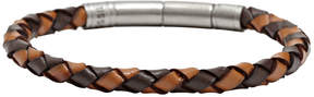 Fossil Braided Bracelet - Brown