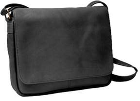 Royce Leather Women's Vaquetta Shoulder Bag With Flap.