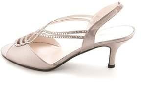 Caparros Womens Philomena Canvas Open Toe Formal Slingback Sandals.
