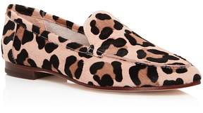 Kate Spade Carima Leopard Print Calf Hair Loafers