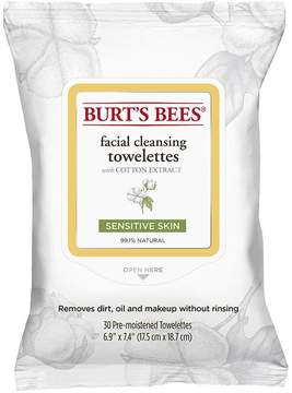 Sensitive Facial Cleansing Towelettes with Cotton Extract (30 count) by Burt's Bees (30 Wipes)